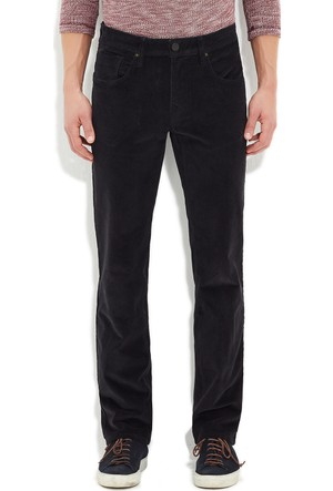 Mavi Siyah Martin Kadife Pantolon