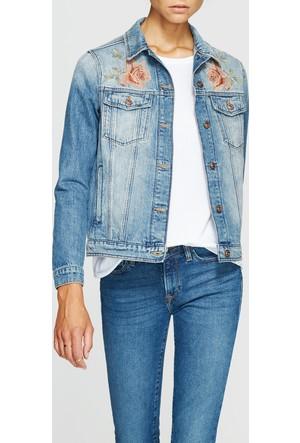 Mavi Kadın Katy Çiçek Nakışlı Jean Ceket