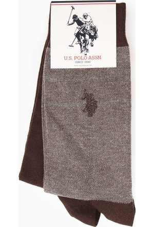 U.S. Polo Assn. Erkek Cash Çorap Kahverengi