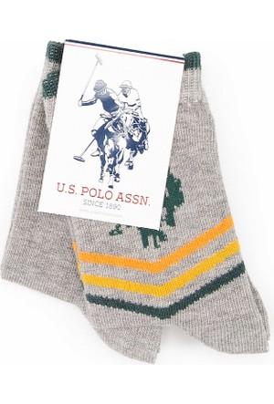 U.S. Polo Assn. Erkek Çocuk Ivam Çorap Gri