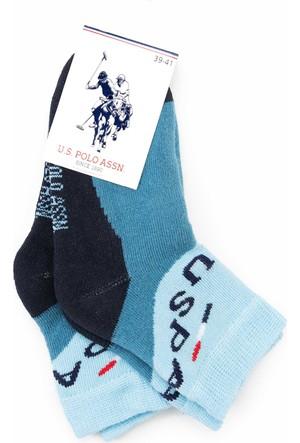 U.S. Polo Assn. Erkek Çocuk Markidsk7 Çorap Mavi
