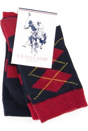 U.S. Polo Assn. Erkek Çocuk Wilsonsk7 Çorap Lacivert
