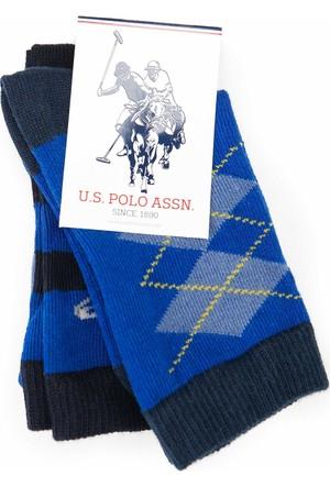 U.S. Polo Assn. Erkek Çocuk Wilsonsk7 Çorap Mavi