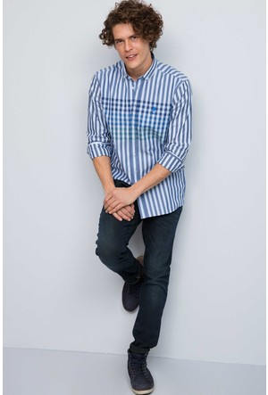 U.S. Polo Assn. Erkek Oscar Gömlek Mavi
