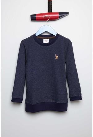 U.S. Polo Assn. Erkek Çocuk Brest Sweatshirt Lacivert