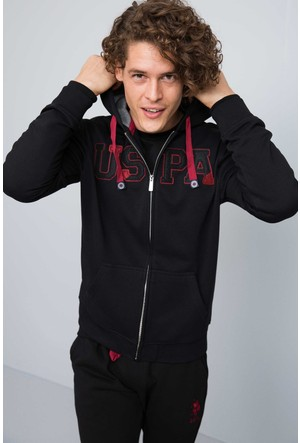 U.S. Polo Assn. Erkek Garensk7 Sweatshirt Siyah