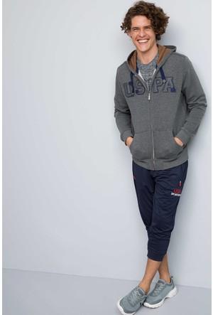 U.S. Polo Assn. Erkek Garensk7 Sweatshirt Gri