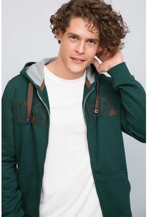U.S. Polo Assn. Erkek Garensk7 Sweatshirt Yeşil