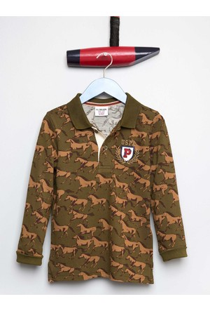 U.S. Polo Assn. Erkek Çocuk Remil Sweatshirt Haki
