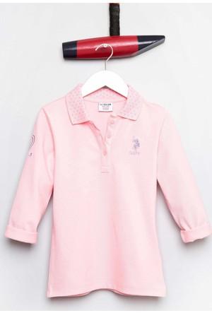 U.S. Polo Assn. Kız Çocuk Sd01 Sweatshirt Pembe