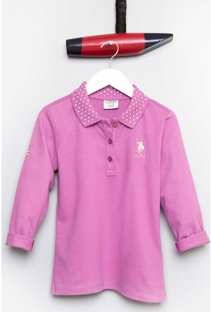 U.S. Polo Assn. Kız Çocuk Sd01 Sweatshirt Mor