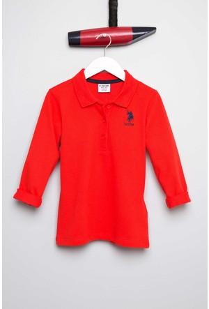 U.S. Polo Assn. Kız Çocuk Tp01-Sk700 Sweatshirt Kırmızı