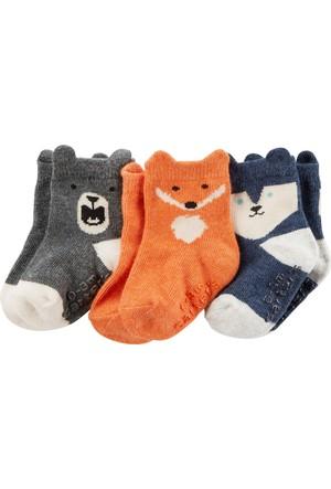 Carter's Erkek Çocuk 3'lü Çorap CR03175