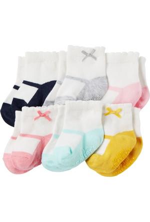 Carter's Kız Bebek 6'lı Çorap CR03263