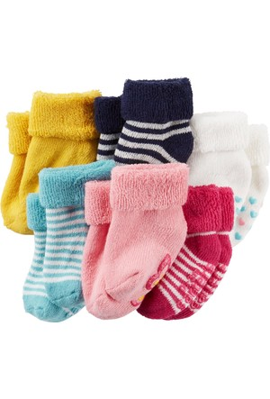 Carter's Kız Bebek 6'lı Çorap Cr03329