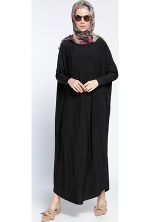 Tesettür Elbise - Siyah - Topless