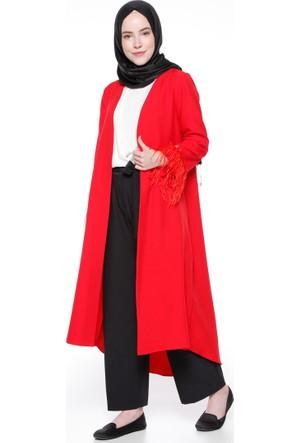 Kol Detaylı Kap - Kırmızı - Modesty