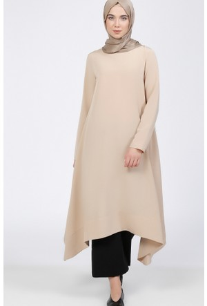 Asimetrik Kesim Tunik - Vizon - Everyday Basic