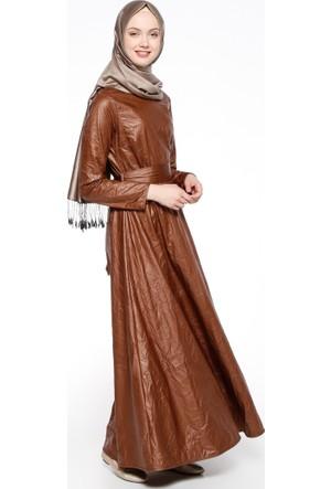 Deri Elbise - Kahverengi - Beha Tesettür
