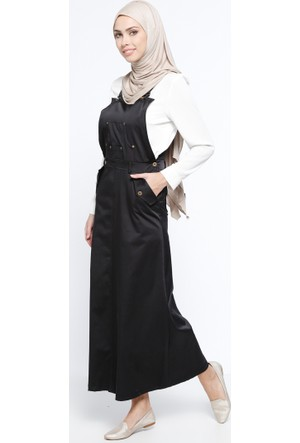 Salopet Elbise - Siyah - BÜRÜN