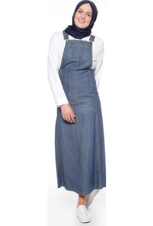 Kot Salopet Elbise - Mavi - Neways