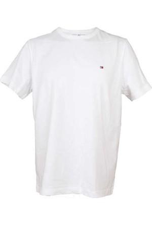 Tommy Hilfiger 09T0021-100 Bisiklet Yaka. T-Shirt