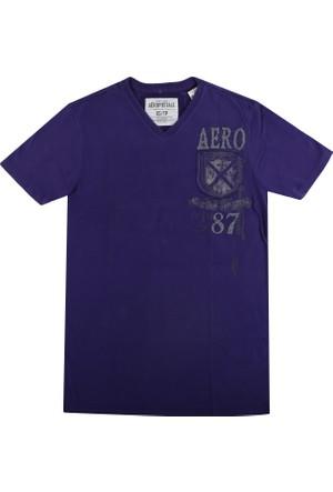 Aeropostale 1066-Purp Erkek T-Shirt