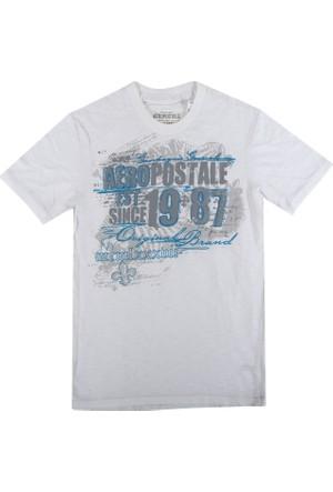 Aeropostale 1070-Bleach Erkek T-Shirt