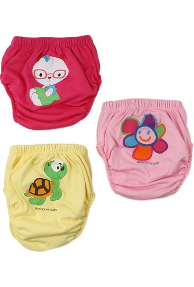 Story Baby Alıştırma Külodu Kaplumbağa, Çiçek ve Gözlüklü Çocuk