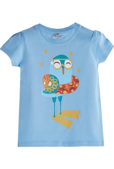 Soobe Pop Girls Denizci Kuş Kısa Kol T-Shirt Violet 0 - 3 Ay