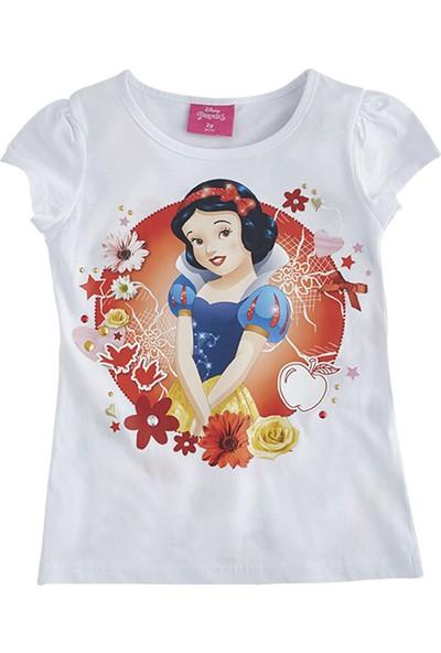 Soobe Lisanslı Disney Princess Kısa Kol T-Shirt Beyaz 2 Yaş