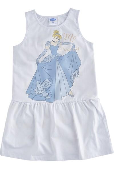 Soobe Lisanslı Disney Frozen Kolsuz Elbise Beyaz 10 Yaş