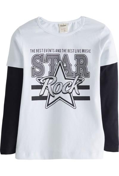 Soobe Rock Stars Baskılı Uzun Kol T-Shirt Pembe 4 Yaş