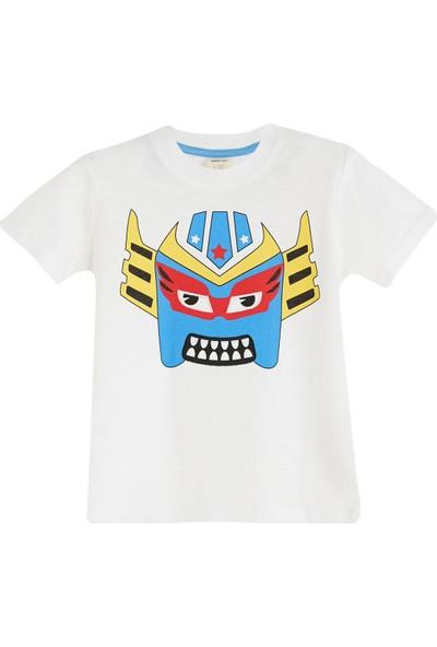 Soobe Super Heroes Çantalı Kısa Kol T-Shirt Beyaz 10 Yaş