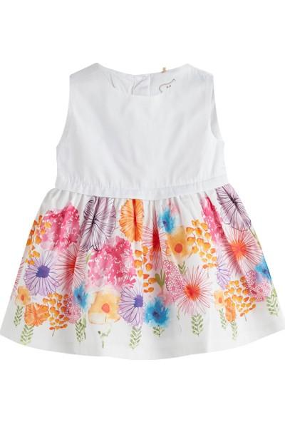 Soobe Bloom Garden Kolsuz Elbise Beyaz 0 - 3 Ay