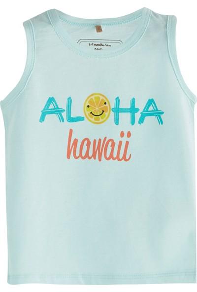 Soobe Pop Boys Havaii Kolsuz T-Shirt Buz Mavi 0 - 3 Ay