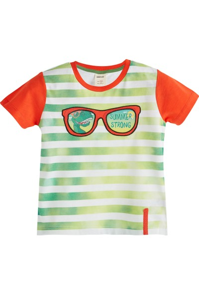 Soobe Green Monsters Kısa Kol T-Shirt Coral 1 Yaş