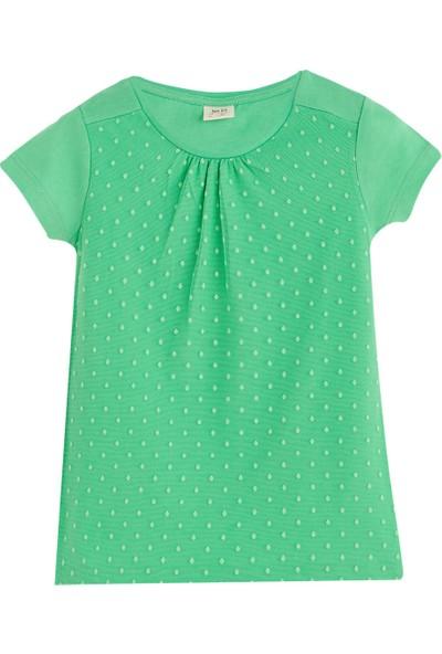 Soobe Pop Girls Önü Detaylı Kısa Kol T-Shirt Green Tea 3 Yaş