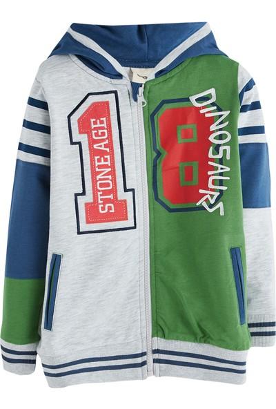 Soobe Green Monstrers Kapüşonlu Sweatshirt Gri Melanj 4 Yaş