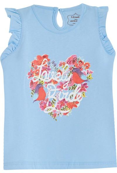 Soobe Pretty Tales Kolsuz T-Shirt Mavi 0 - 3 Ay