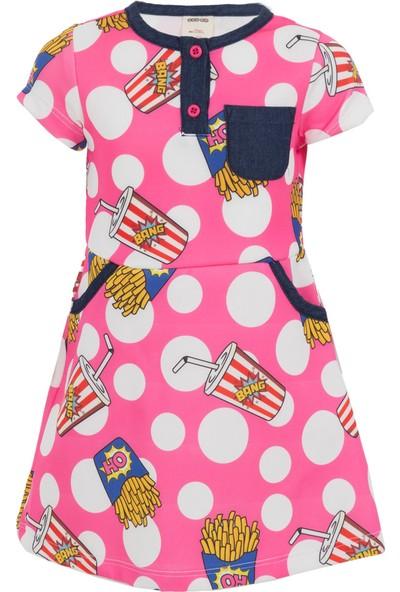 Soobe Fast Food Girls Kısa Kol Elbise 3 Yaş