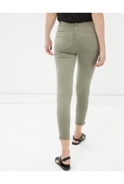 Koton Jeans Kadın Skinny Pantolon Haki