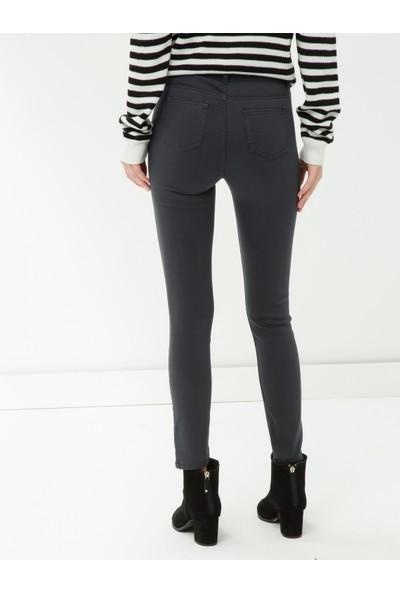 Ole Kadın Skinny Jean Pantolon Gri