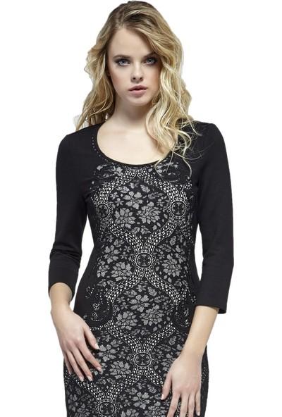 Dodona Özel Tasarım Şık Elbise Siyah