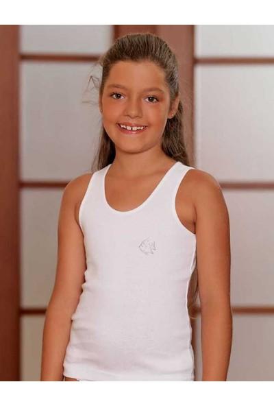 Şahinler Geniş Askılı Ribana Çocuk Atlet Beyaz MKC093
