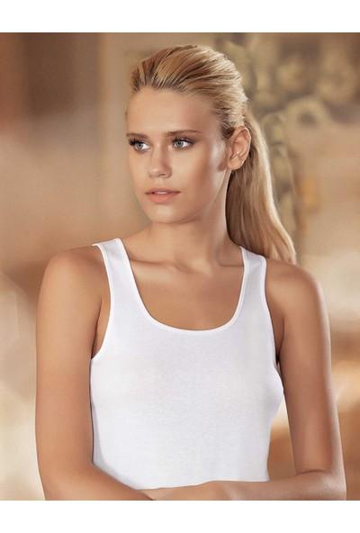 Şahinler Kadın Beyaz Geniş Askılı Ribana Atlet MB004