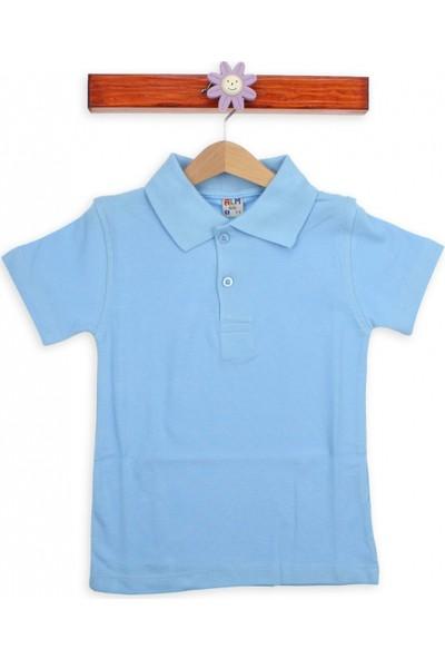 Modakids Kısa Kol Mavi Okul Lacos T-Shirt 016-3512-015