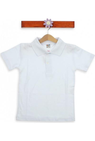 Modakids Kısa Kol Beyaz Okul Lacos T-Shirt 016-3512-027