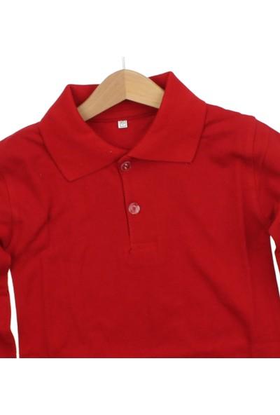 Modakids Uzun Kol Kırmızı Okul Lakos T-Shirt 019-9511-002