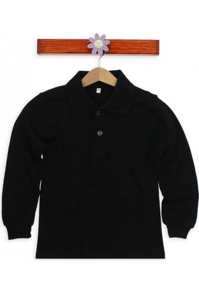 Modakids Uzun Kol Siyah Okul Lakos T-Shirt 019-9511-038